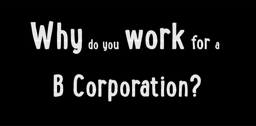 Why should you work for a B Corporation?